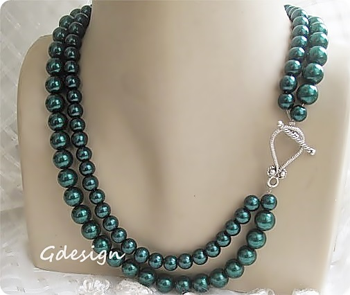 74c4a3e9f90 Browse. Chic Selections Shop   Green Pearl Necklace