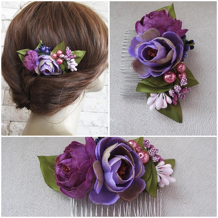 Browse. Chic Selections Shop / Bridal Flower Hair Comb. a